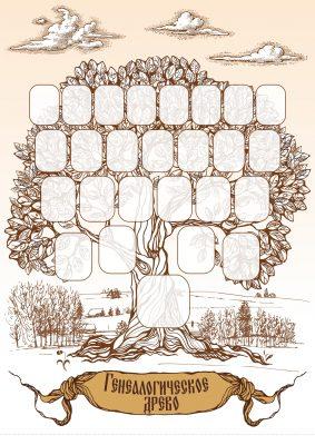 Дерево фамильное плакат